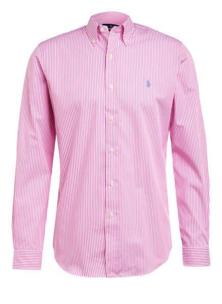 POLO RALPH LAUREN Hemd Custom Fit, Farbe: PINK/ WEISS (Bild 1)