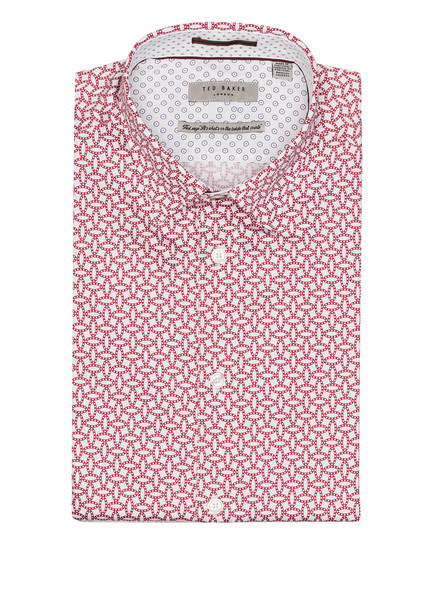 TED BAKER Hemd HEDOES Slim Fit , Farbe: WEISS/ DUNKELROT (Bild 1)