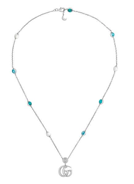 GUCCI Halskette GG, Farbe: SILBER/ TÜRKIS (Bild 1)