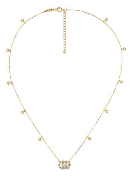 GUCCI Halskette GG RUNNING mit Diamanten, Farbe: GOLD (Bild 1)
