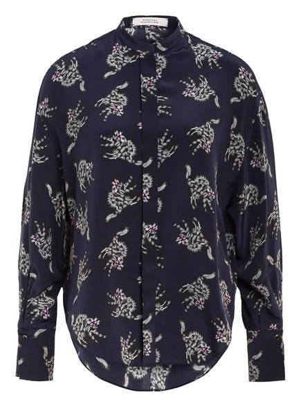 DOROTHEE SCHUMACHER Blusenshirt aus Seide, Farbe: DUNKELBLAU/ HELLGRAU (Bild 1)