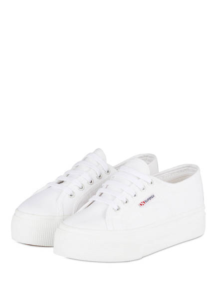 SUPERGA Plateau-Sneaker 2750 UP AND DOWN, Farbe: WEISS (Bild 1)