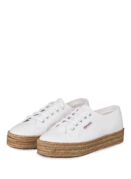 SUPERGA Plateau-Sneaker 2730 COTROPEW, Farbe: WEISS (Bild 1)