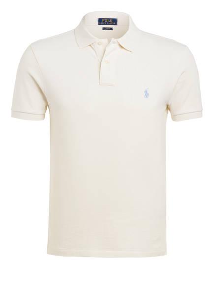 POLO RALPH LAUREN Piqué-Poloshirt Slim Fit, Farbe: CREME (Bild 1)
