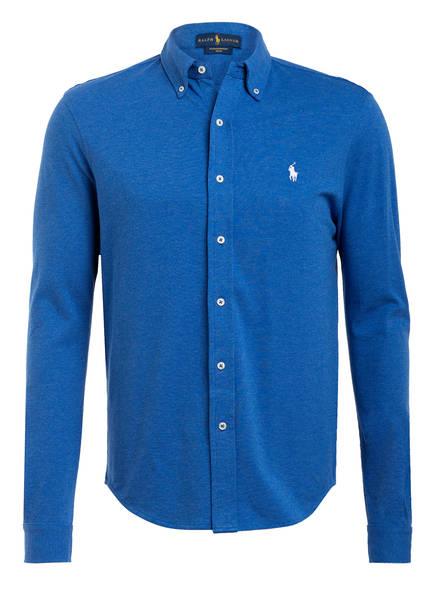 POLO RALPH LAUREN Jerseyhemd Custom Fit, Farbe: BLAU (Bild 1)