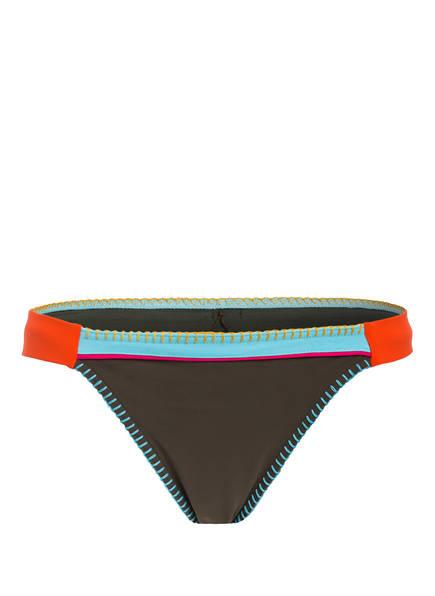 BANANA MOON Bikini-Hose FRESIA TEKNICOLOR, Farbe: KHAKI/ HELLBLAU/ ORANGE (Bild 1)