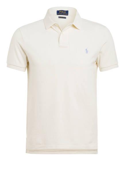 POLO RALPH LAUREN Piqué-Poloshirt Custom Slim Fit, Farbe: CREME (Bild 1)