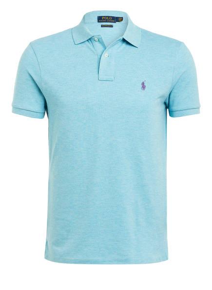 POLO RALPH LAUREN Piqué-Poloshirt Custom Slim Fit, Farbe: HELLBLAU (Bild 1)