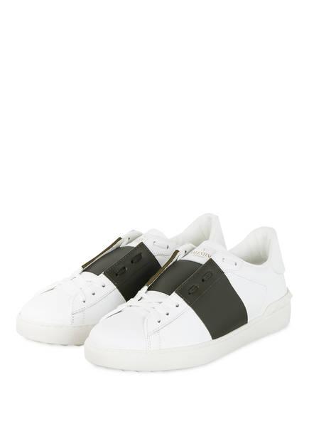 VALENTINO GARAVANI Sneaker OPEN, Farbe: WEISS/ KHAKI (Bild 1)