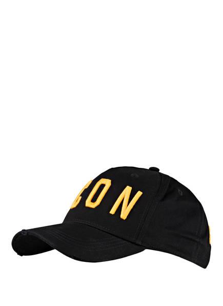 DSQUARED2 Cap ICON, Farbe: SCHWARZ/ ORANGE (Bild 1)