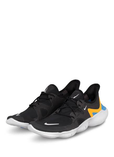 Nike Laufschuhe FREE RN 5.0, Farbe: SCHWARZ/ GELB/ HELLBLAU (Bild 1)