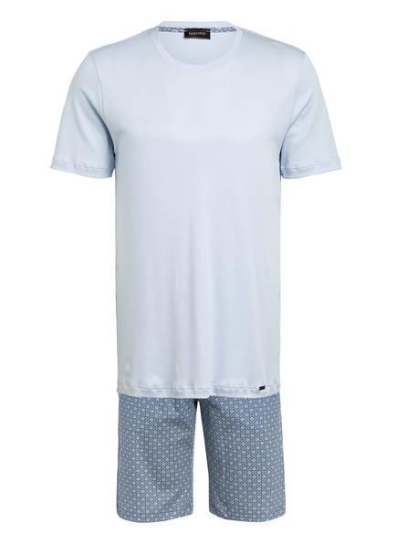HANRO Shorty-Schlafanzug, Farbe: HELLBLAU/ BLAU (Bild 1)