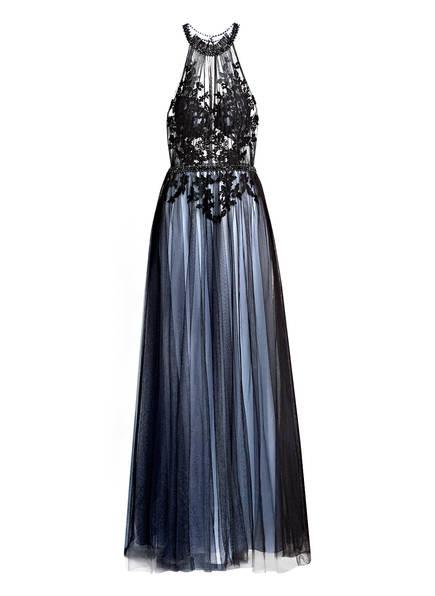 MASCARA Abendkleid mit Stickereien, Farbe: SCHWARZ/ HELLBLAU (Bild 1)