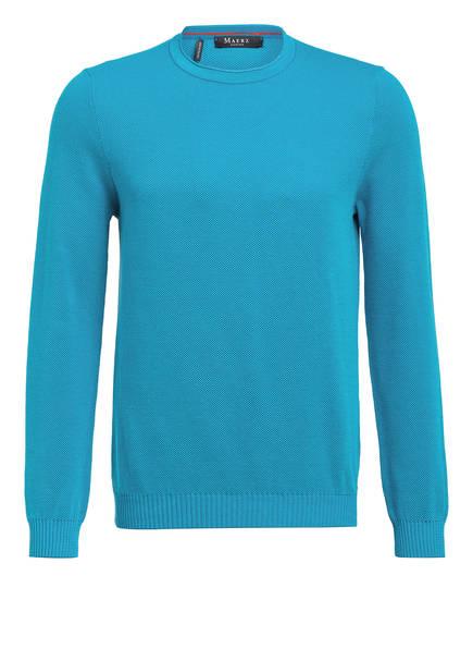 MAERZ MUENCHEN Piqué-Pullover, Farbe: TÜRKIS (Bild 1)