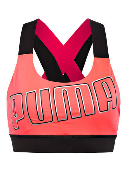 PUMA Sport-BH FEEL IT, Farbe: LACHS/ PINK/ SCHWARZ (Bild 1)