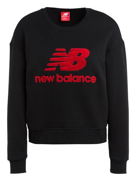 new balance Sweatshirt ATHLETICS STADIUM, Farbe: SCHWARZ/ ROT (Bild 1)