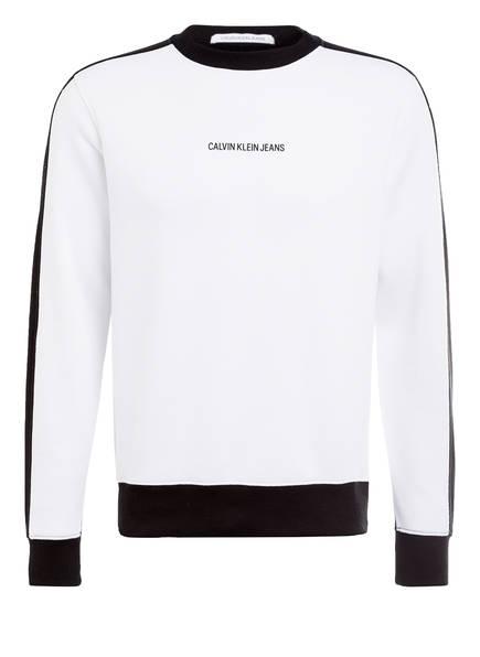 Calvin Klein Jeans Sweatshirt STATEMENT, Farbe: WEISS/ SCHWARZ (Bild 1)