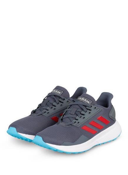 adidas Laufschuh DURAMO 9 K, Farbe: GRAU/ ROT/ HELLBLAU (Bild 1)