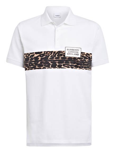 BURBERRY Piqué-Poloshirt SOMERVILLE, Farbe: WEISS (Bild 1)