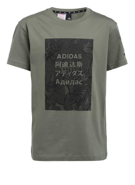 adidas T-Shirt, Farbe: KHAKI (Bild 1)