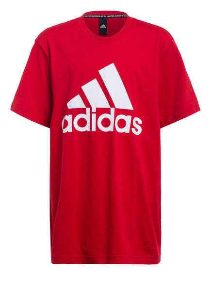 adidas T-Shirt MUST HAVES BADGE OF SPORT, Farbe: ROT/ WEISS (Bild 1)