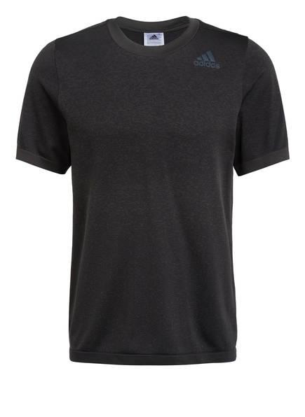 adidas T-Shirt PRIMEKNIT, Farbe: DUNKELGRAU (Bild 1)