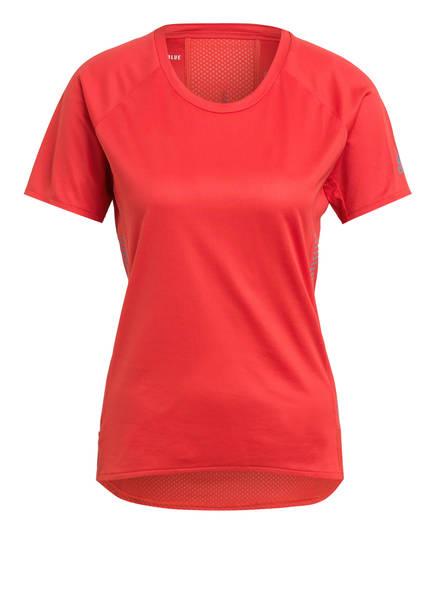 adidas Laufshirt RISE UP N RUN, Farbe: ROT (Bild 1)