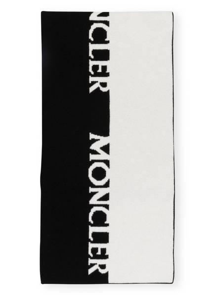 MONCLER Schal mit Cashmere, Farbe: SCHWARZ/ WEISS (Bild 1)