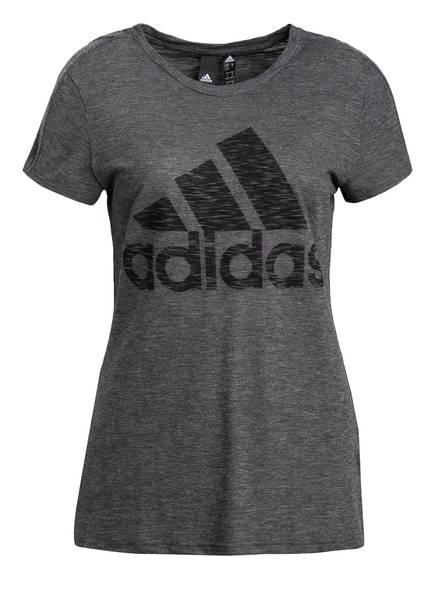 adidas T-Shirt MUST HAVES WINNERS, Farbe: DUNKELGRAU MELIERT (Bild 1)