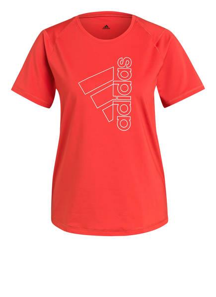 adidas T-Shirt BADGE OF SPORT, Farbe: ROT/ WEISS (Bild 1)