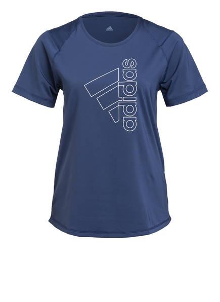 adidas T-Shirt TECH BADGE OF SPORT, Farbe: BLAU (Bild 1)
