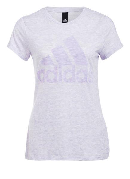 adidas T-Shirt WINNERS, Farbe: LILA MELIERT (Bild 1)