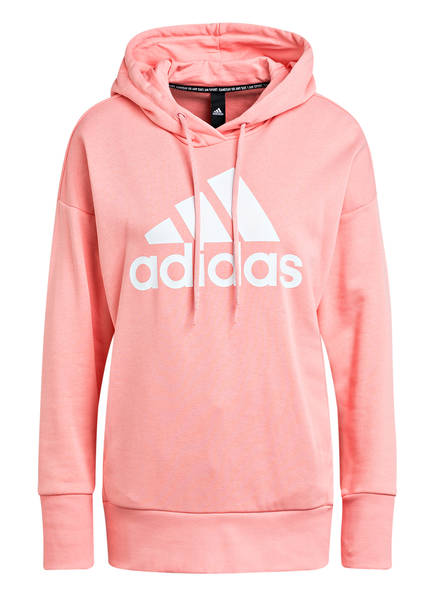 adidas Hoodie BADGE OF SPORT, Farbe: ROSA/ WEISS (Bild 1)