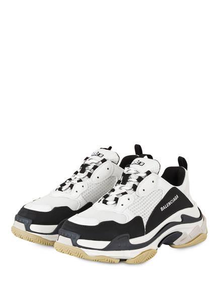 BALENCIAGA Plateau-Sneaker TRIPLE S, Farbe: WEISS/ SCHWARZ (Bild 1)
