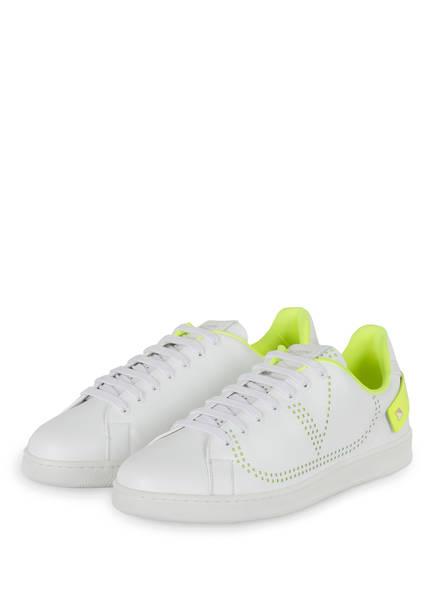 VALENTINO GARAVANI Sneaker , Farbe: WEISS/ NEONGELB (Bild 1)
