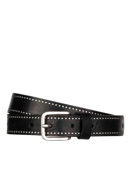 CLOSED Ledergürtel, Farbe: SCHWARZ/ SILBER (Bild 1)
