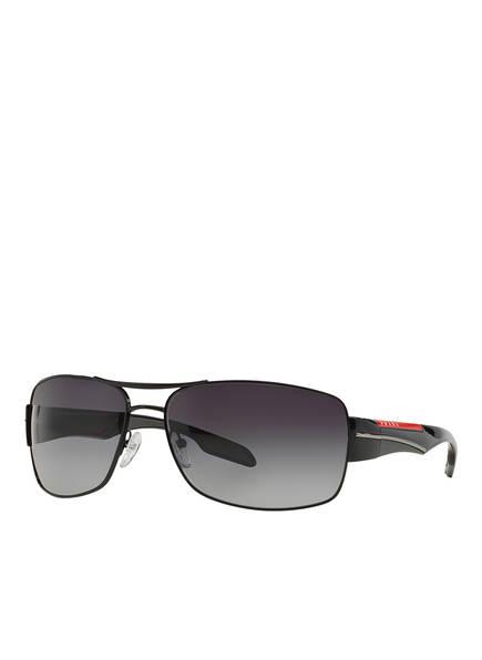 PRADA LINEA ROSSA Sonnenbrille PS 53NS, Farbe: 7AX5W1 - SCHWARZ/ GRAU POLARISIERT (Bild 1)