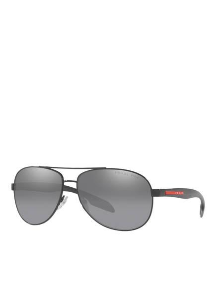 PRADA LINEA ROSSA Sonnenbrille SPS53P, Farbe: 1AB2F2 - SCHWARZ/ DUNKELGRAU VERSPIEGELT (Bild 1)