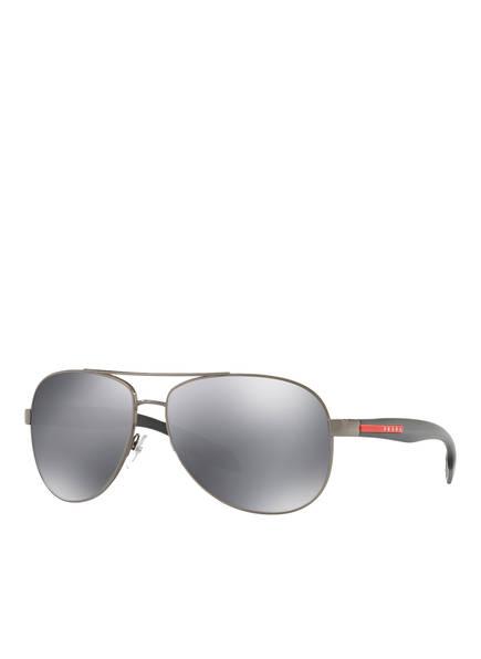 PRADA LINEA ROSSA Sonnenbrille SPS53P, Farbe: 5AV5L0 - DUNKELGRAU/ GRAU VERSPIEGELT (Bild 1)