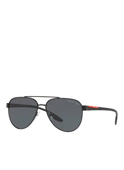 PRADA LINEA ROSSA Sonnenbrille PS 54TS, Farbe: 1AB5Z1 - SCHWARZ/ GRAU POLARISIERT (Bild 1)