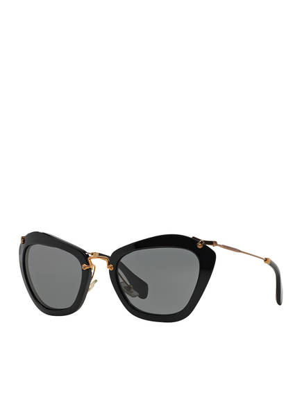 MIU MIU Sonnebrille MU 10NS, Farbe: 1AB1A1 - SCHWARZ/ DUNKELGRAU (Bild 1)
