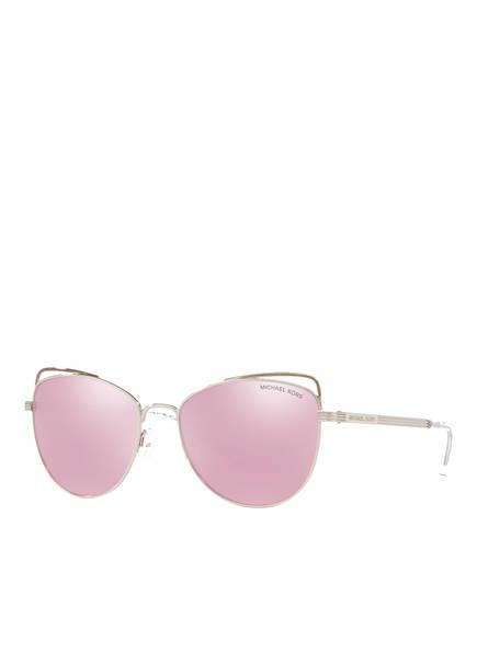 MICHAEL KORS Sonnenbrille MK1035, Farbe: 11537V - SILBER/ ROSA VERSPIEGELT (Bild 1)