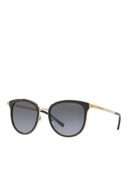 MICHAEL KORS Sonnenbrille MK1010 ADRIANNA I, Farbe: 1100T3 - SCHWARZ/ GOLD/ GRAU VERLAUF (Bild 1)
