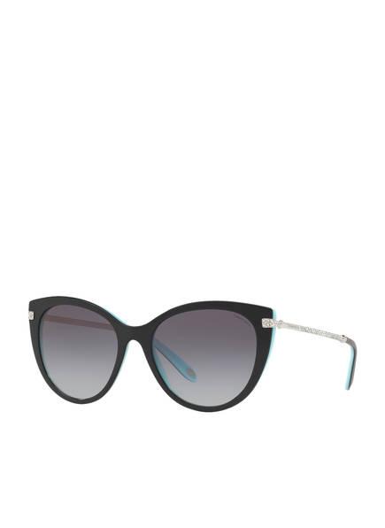 TIFFANY & Co. Sunglasses Sonnenbrille TF4143B mit Schmucksteinbesatz , Farbe: 80553C - SCHWARZ/ DUNKELBLAU VERLAUF (Bild 1)