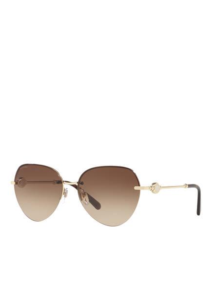 BVLGARI Sunglasses Sonnenbrille BV6108, Farbe: 278/13 - GÒLD/ BRAUN VERLAUF (Bild 1)
