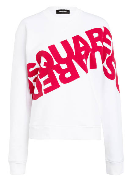 DSQUARED2 Sweatshirt , Farbe: WEISS/ ROT (Bild 1)