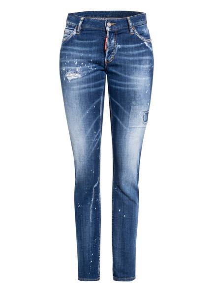 DSQUARED2 Destroyed Jeans JENNIFER, Farbe: 470 BLUE	 (Bild 1)