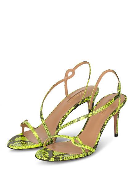AQUAZZURA Sandaletten SERPENTINE, Farbe: NEONGRÜN/ SCHWARZ (Bild 1)