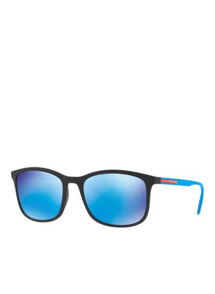 PRADA LINEA ROSSA Sonnenbrille PS 01TS, Farbe: DG05M2 - SCHWARZ/ BLAU VERSPIEGELT (Bild 1)