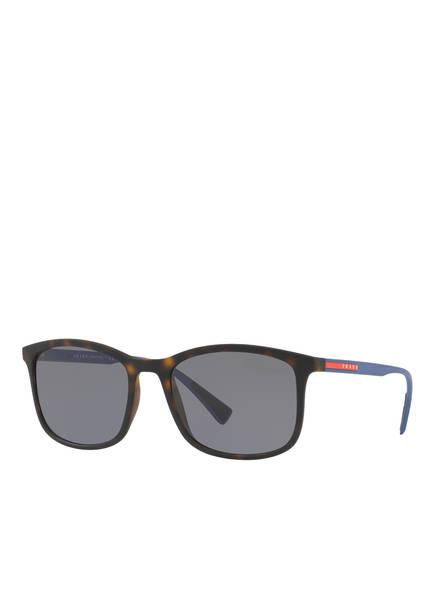 PRADA LINEA ROSSA Sonnenbrille PS 01TS, Farbe: U61144 - HAVANA/ GRAU POLARISIERT (Bild 1)